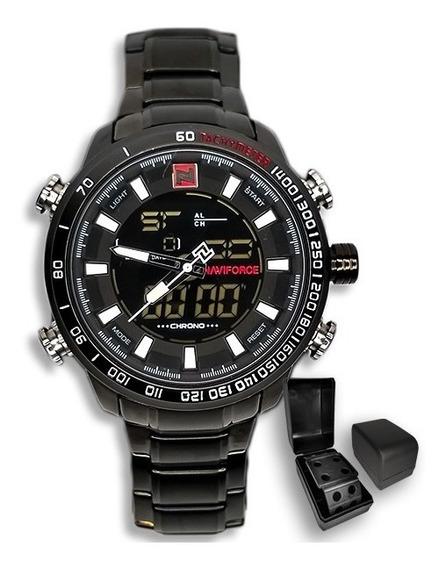 Relógio Masculino Naviforce 9093 Importado Luxo + Brinde