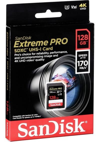 Cartão Sandisk Extreme Pro 128gb 170mb Novo Original