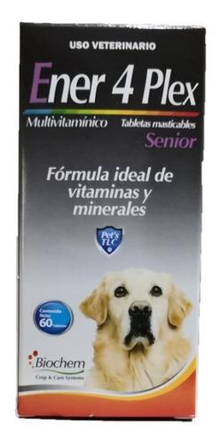Ener 4 Plex Senior 60 Tabletas Vitaminas Para Perro +7 Años