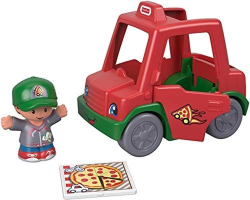 Carro De Juguete De Reparto De Pizzas, Color Rojo-verde-gris