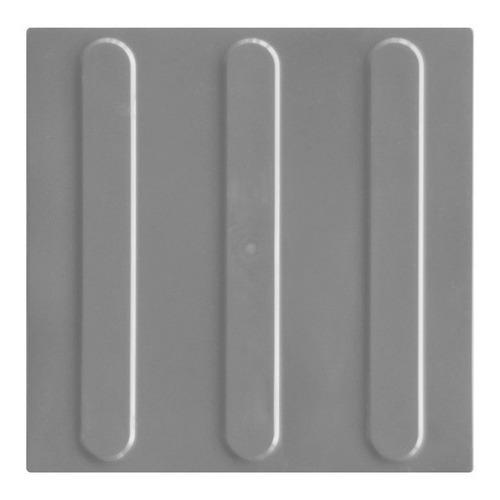 Piso Tátil Direcional Cinza Pvc 25x25x0,5cm Kit 16pçs =m²