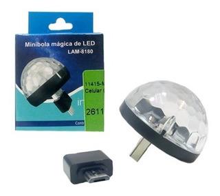 Mini Bola Magica Led Portatil Usb P/ Celular (lam-8180)