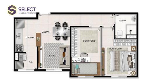 Apartamento Com 2 Dormitórios À Venda, 43 M² Por R$ 185.000,00 - Cooperativa - São Bernardo Do Campo/sp - Ap0307