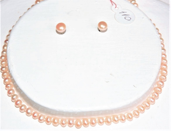 Collar Perla Cultivada Color Natural 5-6 Mm Nr. 110