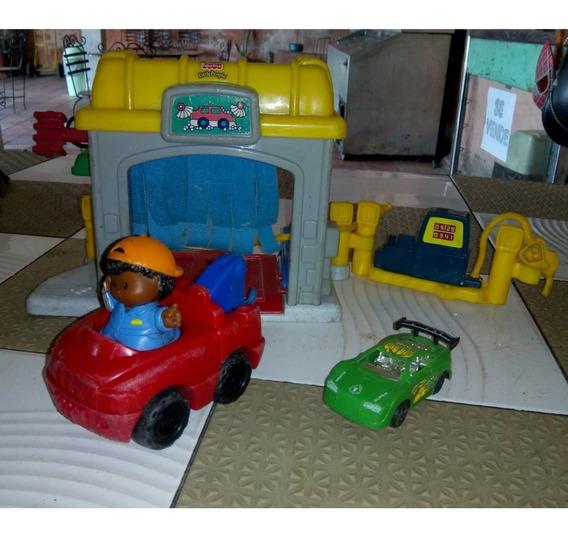 Autolavado Con Estación De Gasolina Little People Fisher