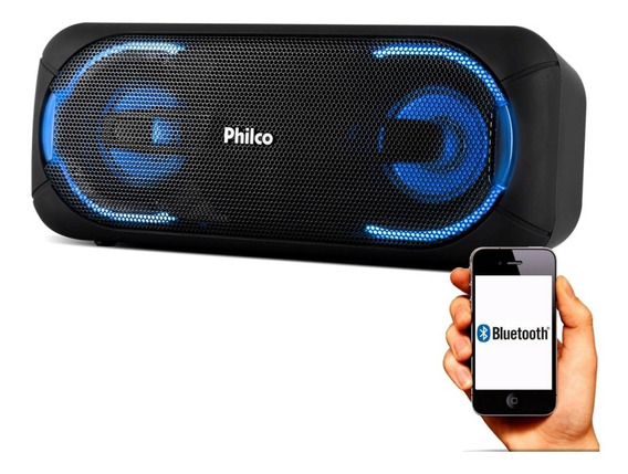 Caixa Som Portátil Pbs50 Bluetooth 50 Rms Potente Philco