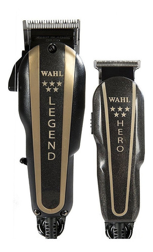 Máquina Wahl Barber Combo Legend Y Trimmer Hero Profesional