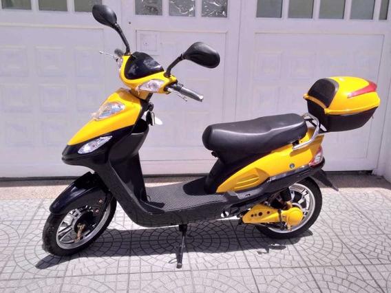 Bicicleta Eléctrica Amarilla Y Negra