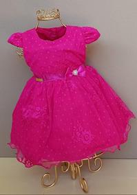 Vestido Bebê Princesa Festa Saída Maternidade Batizado