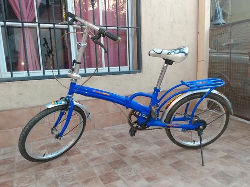 Bicicleta Plegable Rodado 20, En Muy Buen Estado.