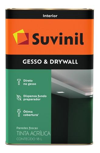 Imagem 1 de 1 de Tinta Direto No Gesso E Drywall Suvinil 18l Branco
