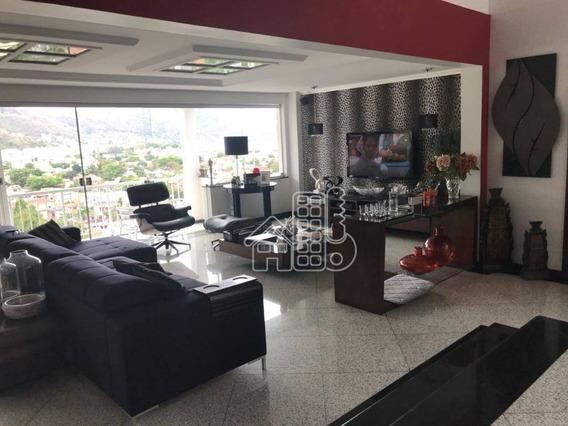 Casa Com 6 Dormitórios Para Alugar, 900 M² Por R$ 8.000,00/mês - São Francisco - Niterói/rj - Ca1020