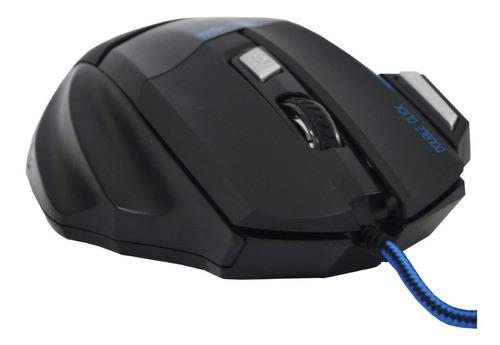 Mouse Óptico F3 1600dpi Usb Preto E Prata G5 Gamer Jogo