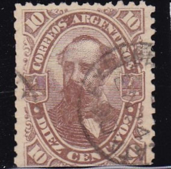 Argentina 1888 / 90 Sello Mello Nº 65 Nicolas Avellaneda