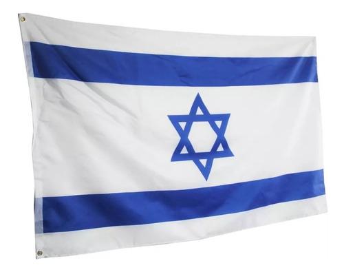 Imagen 1 de 2 de Bandera De Israel 90 X 150 Cm