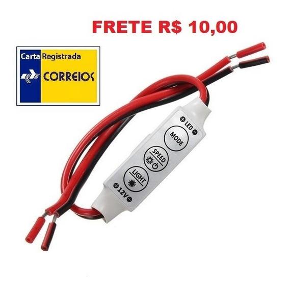 Mini Controle Dimmer 12v P/ Fita Led Uma Cor Frete R$ 10,00
