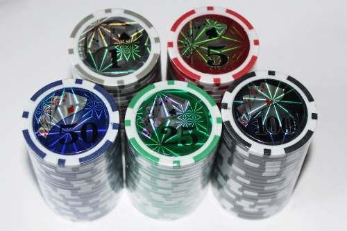 Fichas Poker Lujo Peso Metalizadas 820025 Fichas X100