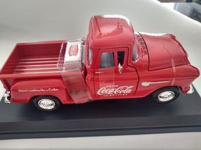 Pickup Chevy 1955 5100 Stepside Coca-cola (lacrado Na Caixa)