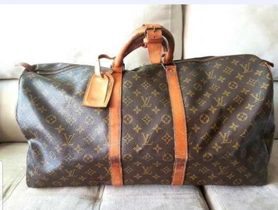 Louis Vuitton Keepall 60 Bolsa Mala De Viagem Original