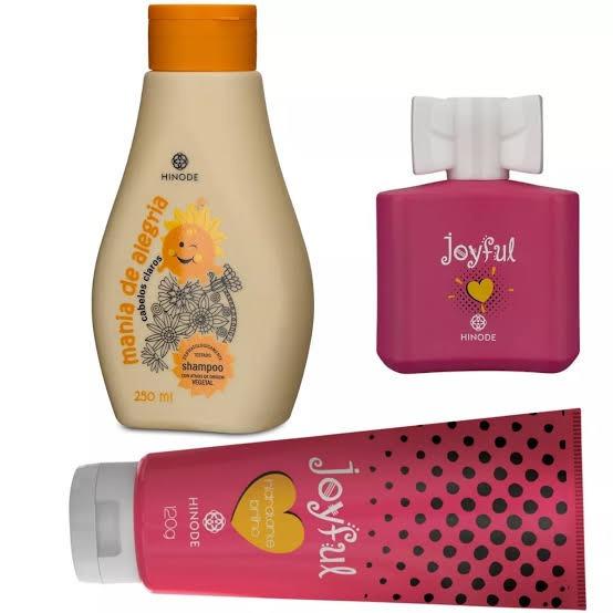 Kit Infantil Colônia Joyful. Hidratante. Shampoo.