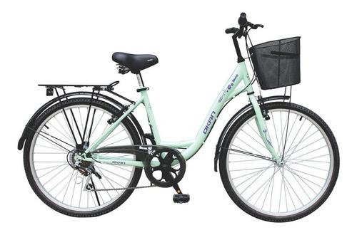Bicicleta Okan Urbana Berna Dama Rodado 26 Con Canasto