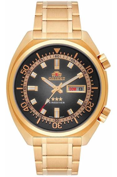 Relógio Orient Automático Dourado Masculino F49gg001 P1kx