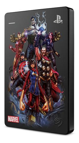 Imagen 1 de 2 de Disco 2tb Seagate Game Drive Ps4 Edición Avengers Assemble