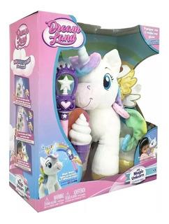 Unicornio Magico Peluche Luz Helado Varita Magica Da Besos