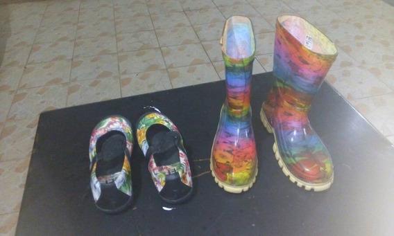 Zapatillas Y Botas De Lluvia Para Niñas Talla 33