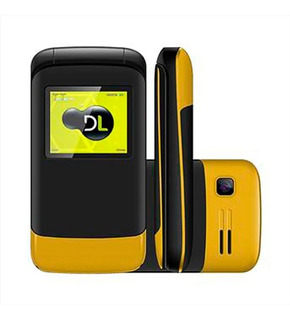 Celular Para Idosos Flip Dl 230 2 Chip Câmera Fm Amarelo