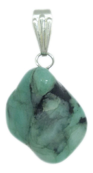 Pingente De Pedra Esmeralda Natural