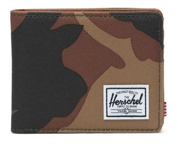 Billetera Herschel Hank woodland camo poliéster 600d