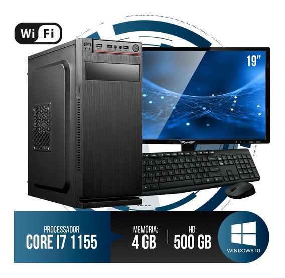 Pc Completo Intel Core I7, 4gb Ram Ddr3, Hd 500gb