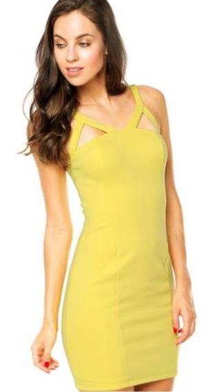 Vestido Curto Amarelo Lança Perfume