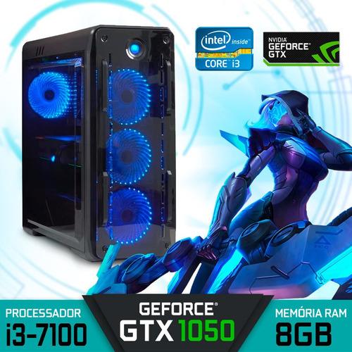 Computador Gamer Intel Core I3-7100 Ram 8gb Hd 1tb Gtx 1050