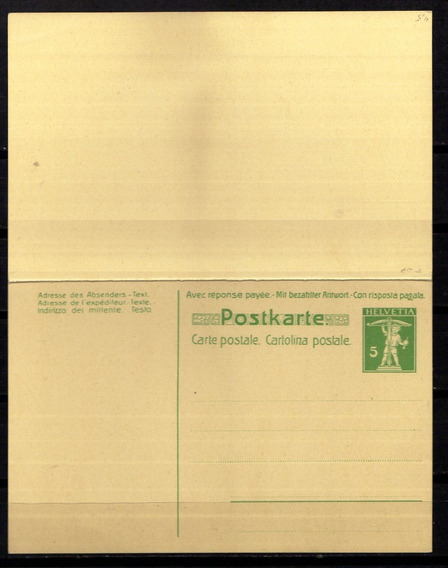 Numismza : Suiza 1900 Tarj Resp Postal Pagada ( S 319) Oferta