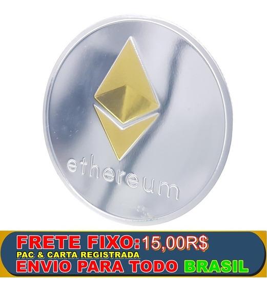 Moeda Física Ethereum Exclusiva Super Premium