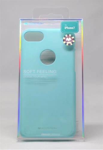 Funda iPhone 7 Goospery Sf Jelly Case Menta