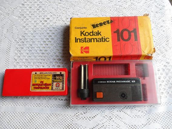 Camera Kodak Instamatic 101 E Filme Mini-cine Da Estrela