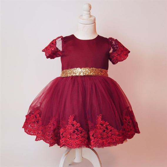 Vestido Menina Infantil Renda Luxo Casamento Importado