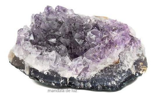 Mini Drusa Ametista Cristal Pedra Natural Decoração Bruta