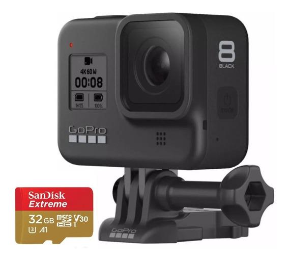 Câmera Digital Gopro Hero 8 Black 4 K Original Com 32gb Ex