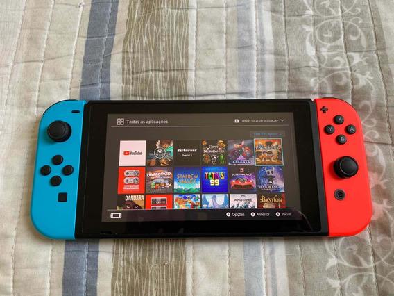 Nintendo Switch + 9 Jogos + Cartão 128gb