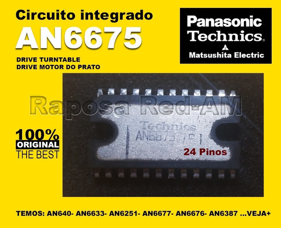 Ci An6675 Driver Do Motor Toca-disco Technics