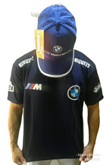 Kit Bmw Camisa + Bone Bmw Oportunidade Oferta Poucas Peças