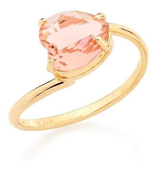 Rommanel Anel Cristal Formato Coração Rosa Ou Branco 511598