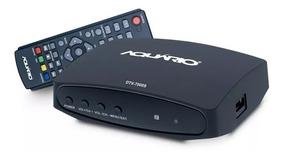 Conversor Digital Aquário Dtv-7000s Função Gravador Full Hd