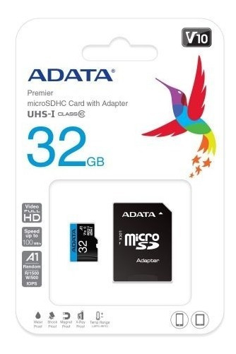 Cartão Memória Micro Sd Adata 64gb + 1 Adaptador Class 10