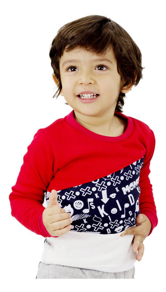 Sweater Sudadera Niño Momo Kids Rojo Detal Mayor Oferta