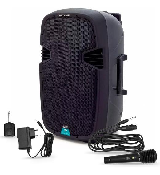 Caixa De Som Amplificada 300w Rms Bluetooth Sp220 Multilaser